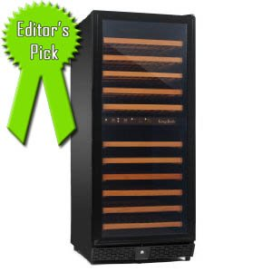 KingsBottle KB-120-BP 120 Bottles Dual Zone Wine Cellar Review