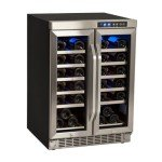 Buy the EdgeStar CWR361FD 36 Bottle Built-In Dual Zone French Door Wine Cooler