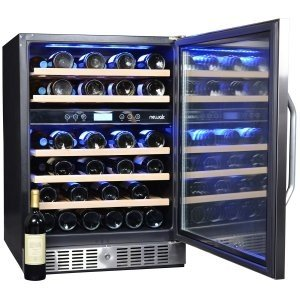 The NewAir AWR-460DB can hold up to 46 bottle across the two cooling zones