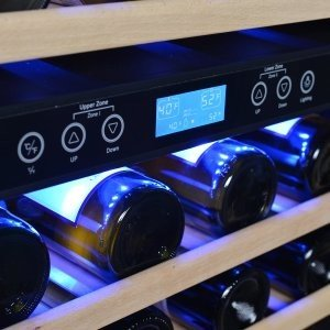 The NewAir AWR-460DB Dual Zone Wine Cooler is a powerful dual zone model.