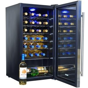 The NewAir AWC-270E is a well-built, affordable, and attractive wine cooler/fridge.